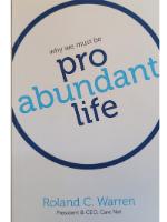 Cover Pro-Abundant Life Booklet
